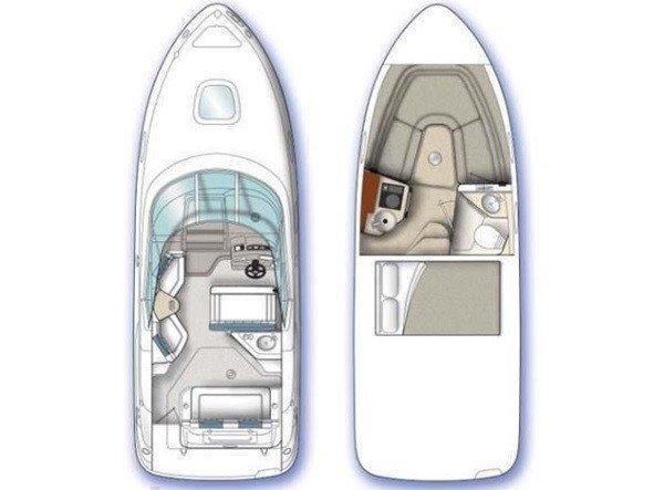 Sea Ray 255 Sundancer (1145 VD) Plan image - 3