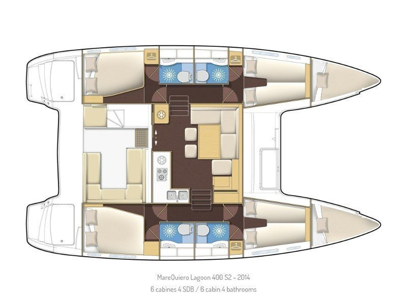 Lagoon 400 S2 (Mare Quiero) Plan image - 1