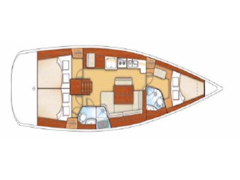 Oceanis 43 () Plan image - 1