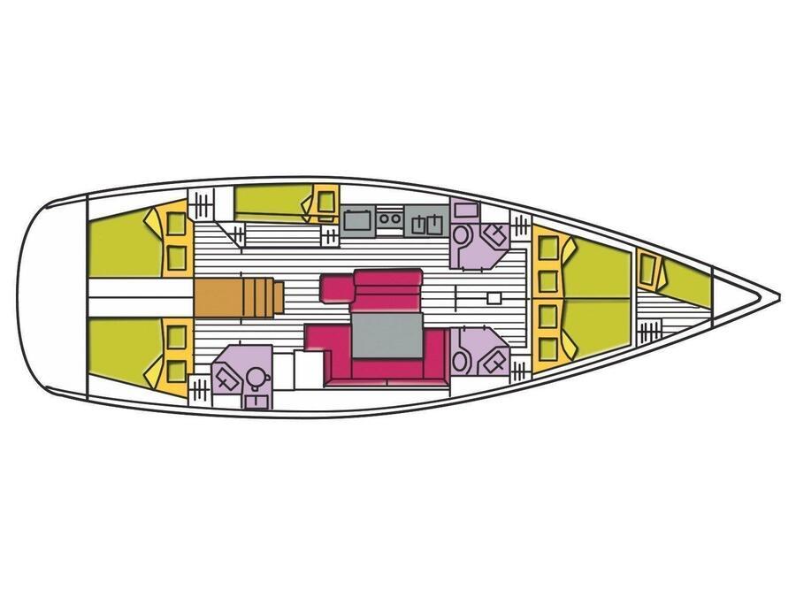 Oceanis 50 Family (Spica) Plan image - 12
