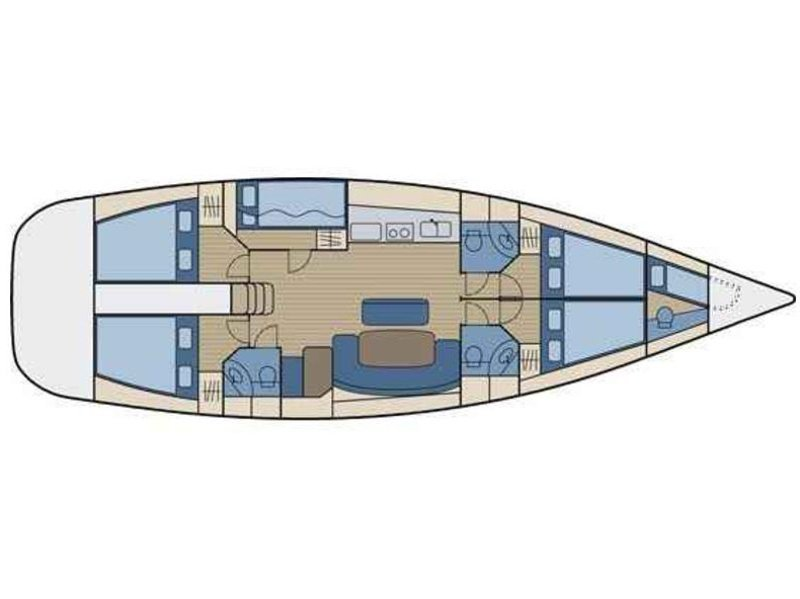 Cyclades 50.5 (Penny, Generator + A/C + Heating) Plan image - 2