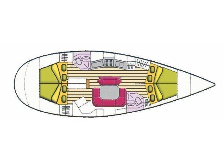 Sun Odyssey 45 08 (Sargas) Plan image - 12
