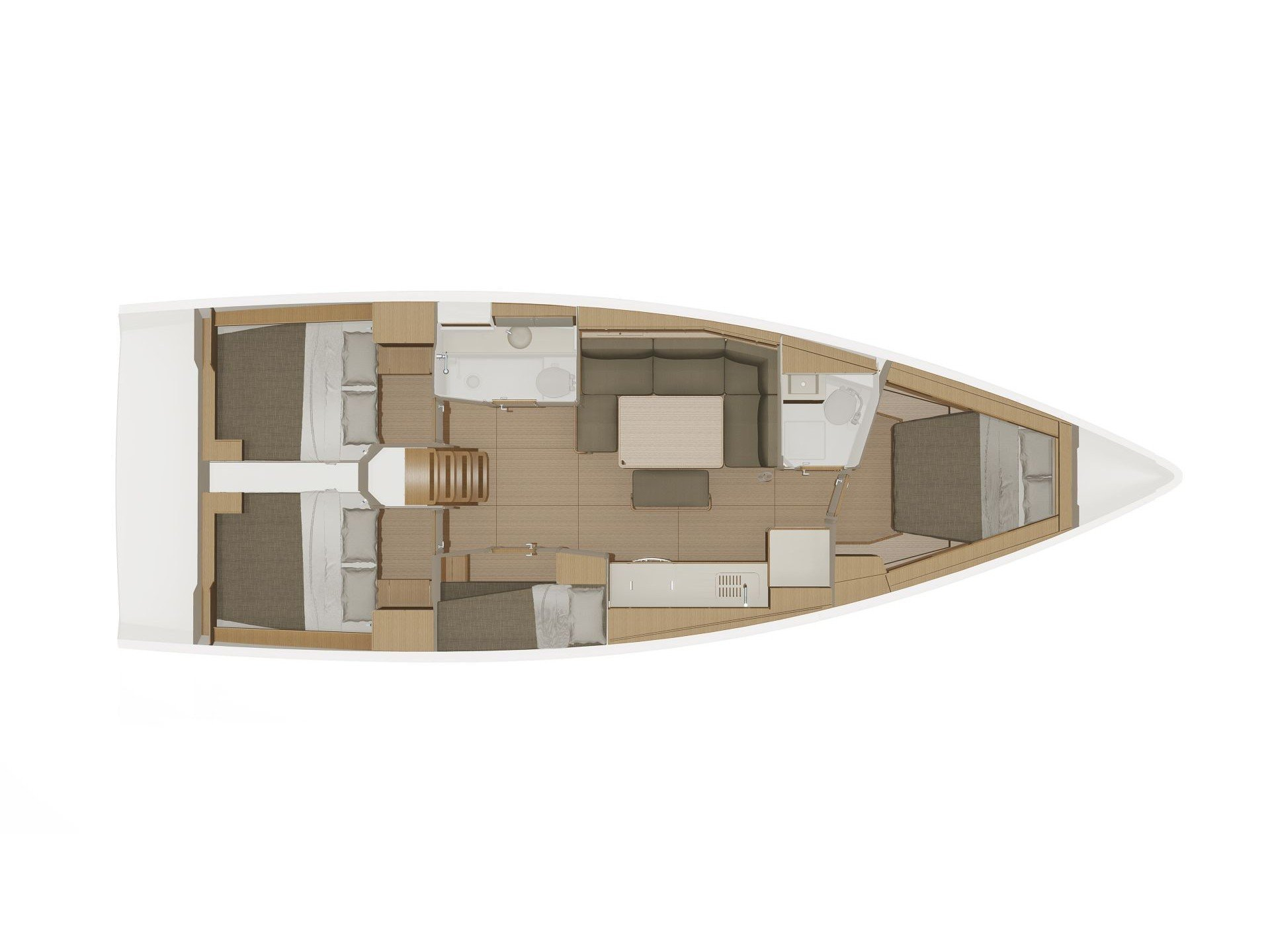 Dufour 430 Grand Large (Hydra) Plan image - 2