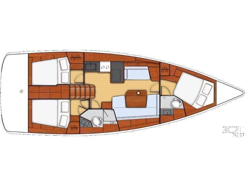 Beneteau - Oceanis 41.1 (Fearless D) Plan image - 1