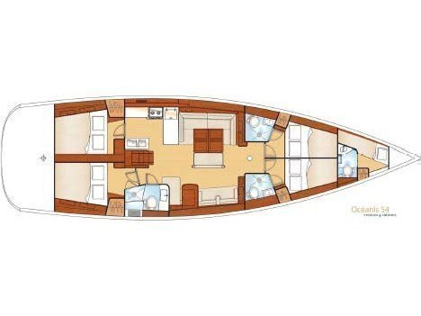 Oceanis 54 (Chill Out) Plan image - 3