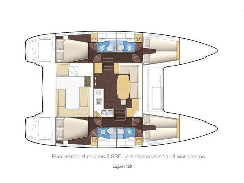 Lagoon 400Lagoon 400 (Meropi) Plan image - 7