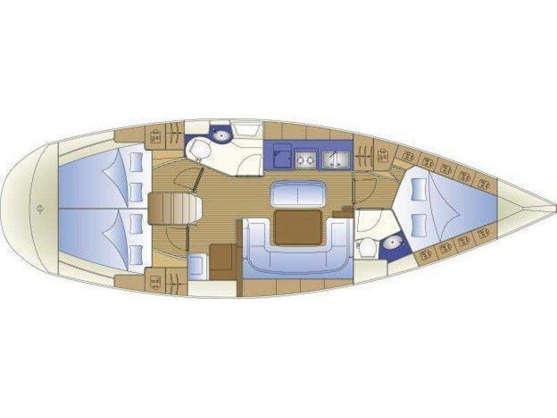 Bavaria 41 Cruiser (New 9) Plan image - 1