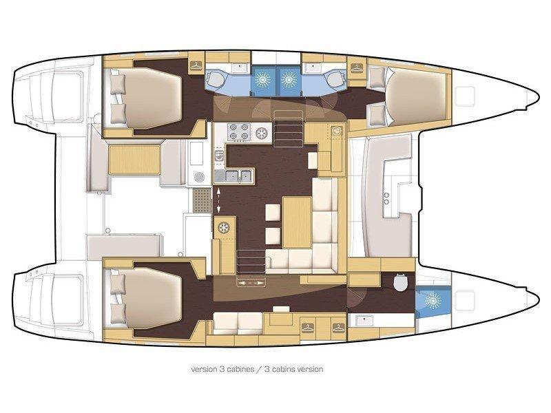 Lagoon 450 sporteck 3 cabin (Aitana) Plan image - 27