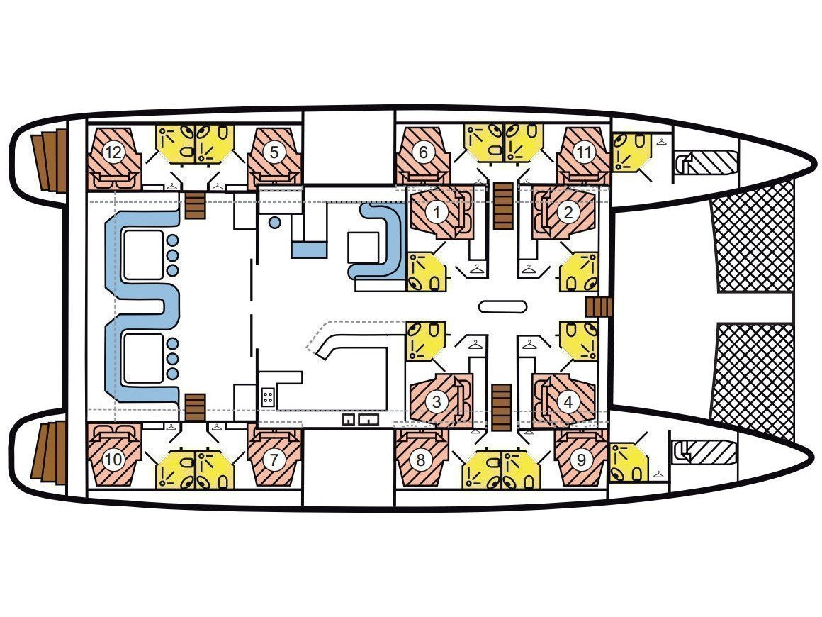 Mojito 78 - incl. crew & full board (Le Gauguin) Plan image - 1