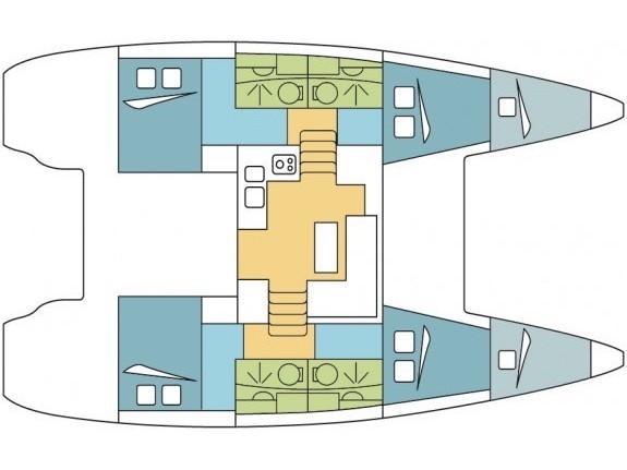 Lagoon 39 (PULPO AC salon + generator) Plan image - 4