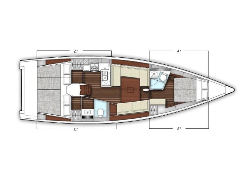X-Yacht 4-3 (XENIA) Plan image - 1