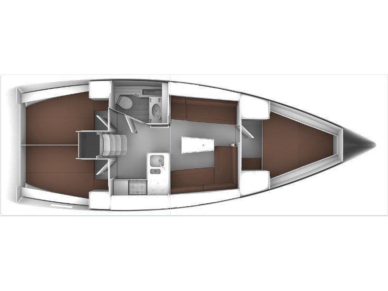 Bavaria Cruiser 37 (B37-15) Plan image - 1