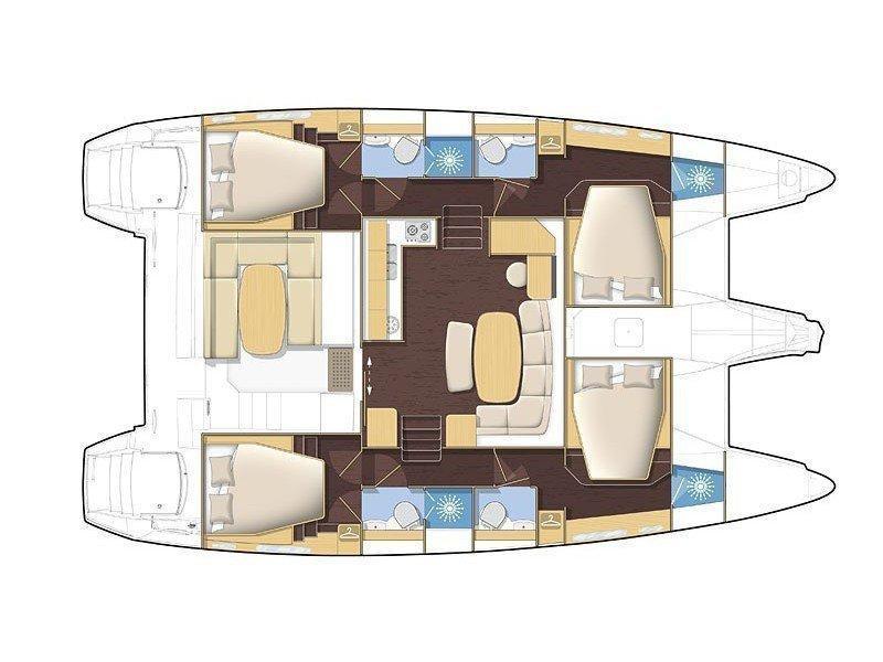 Lagoon 42 (Albertina) Plan image - 2