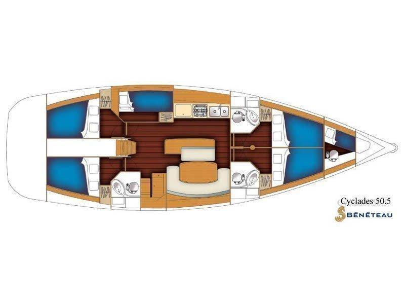 Beneteau 50-5 (Alboran Monica (Radazul)) Plan image - 2