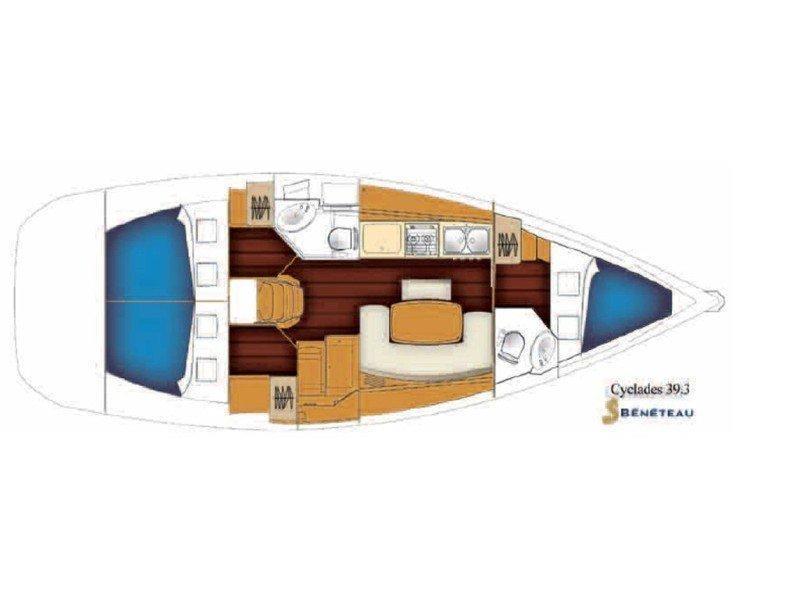 Cyclades 39.3 (Cariddi) Plan image - 1