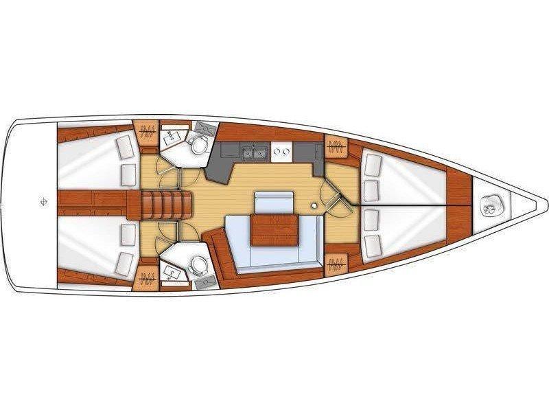Oceanis 45 (Aeolian Wind) Plan image - 1