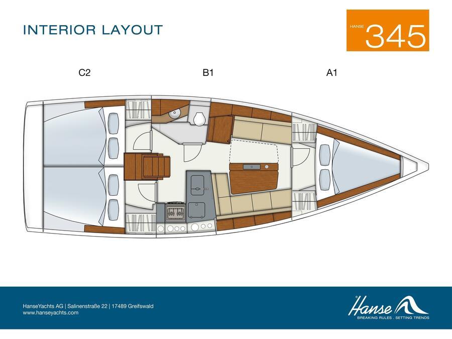 Hanse 345 (Tendance I) Plan image - 2