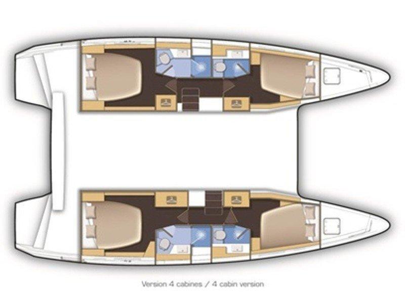 Lagoon 42 (Aeolian Spirit) Plan image - 3