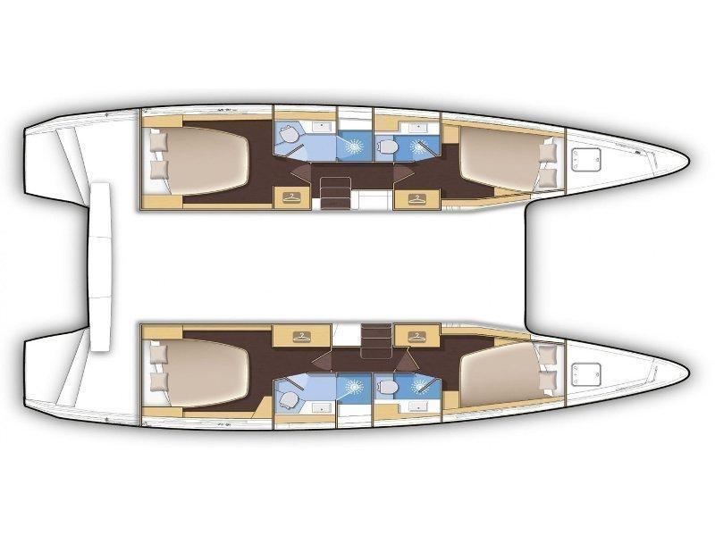 Lagoon 42 (Azurite) Plan image - 24