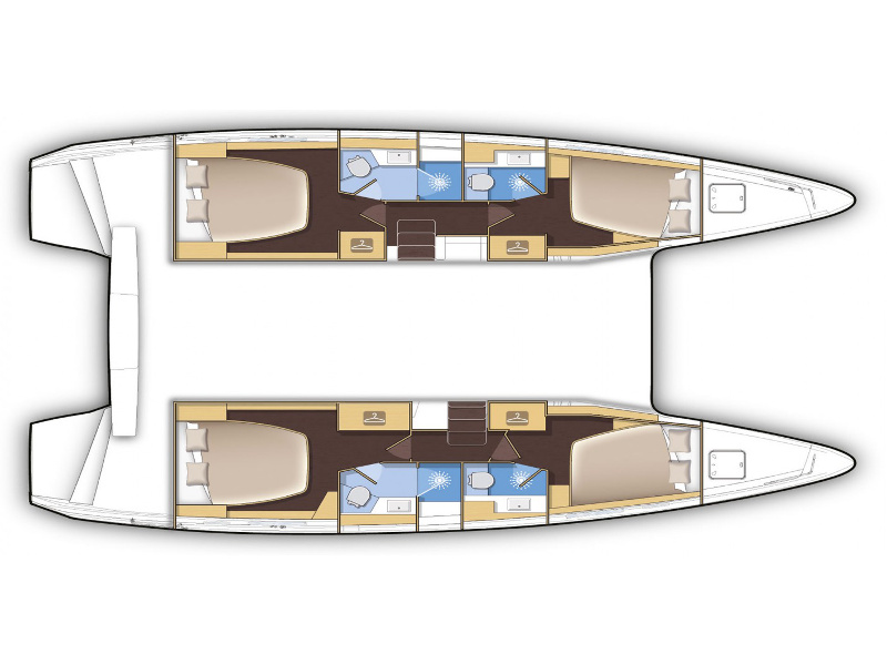 Lagoon 42 (Hunter II) Plan image - 8