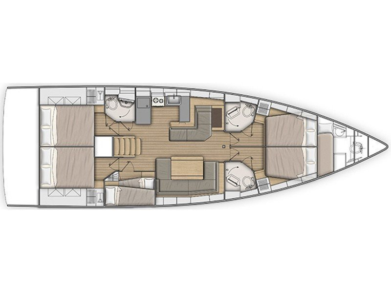 Oceanis 51.1 (Zephyr B with A/C and generator) Plan image - 7