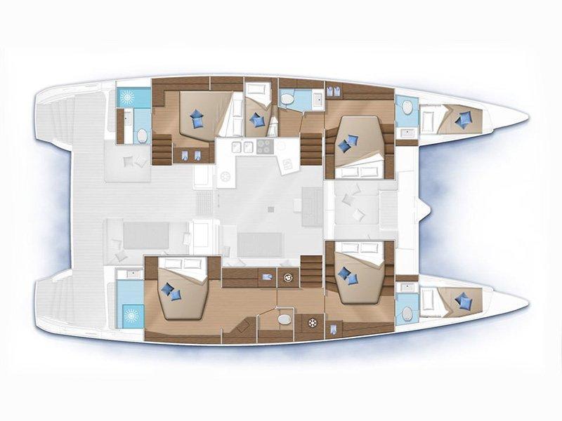 Lagoon 52F (NEW 2019! - BT) Plan image - 2