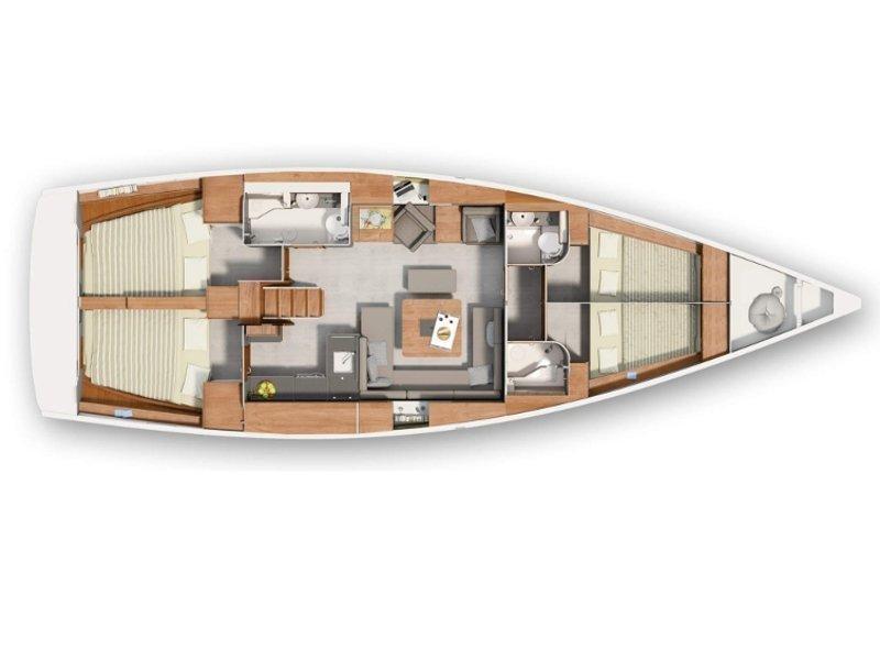 Hanse 455 (Kulfoldi Panna) Plan image - 1