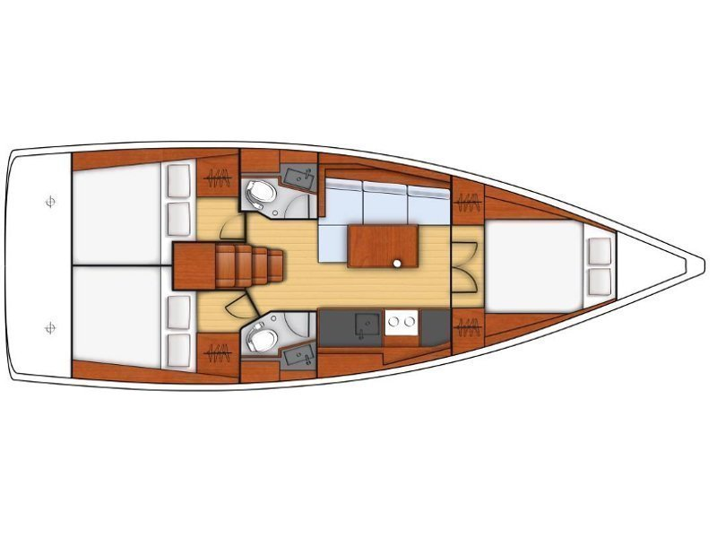 Oceanis 38.1 (Fany) Plan image - 3