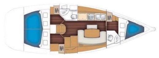 Beneteau Cyclades 39.3   (Helena) Plan image - 2
