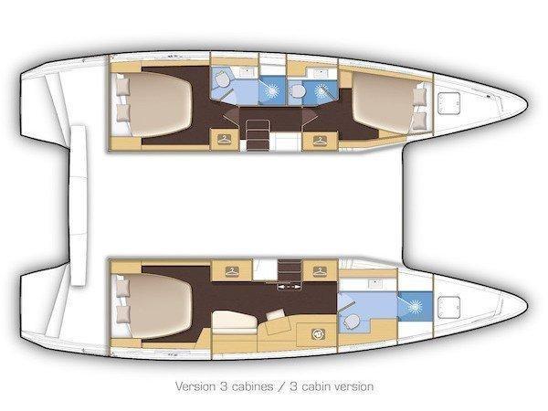 Lagoon 42 (EUPHORIA II  ) Plan image - 21