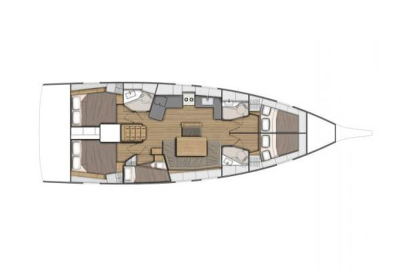 Oceanis 46.1 (Greta NEW 2020! - BT) Plan image - 18