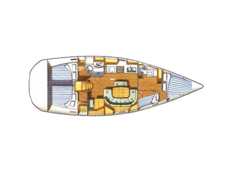 Oceanis 411 (Hamal) Plan image - 1