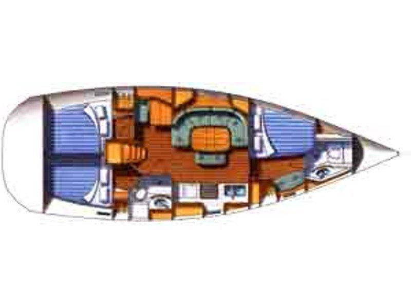 Oceanis 393 Clipper (Sabik) Plan image - 3