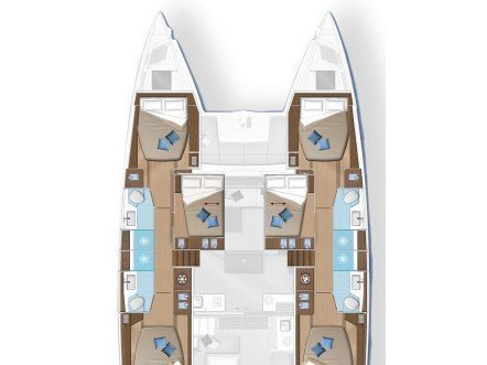 Lagoon 50 Fly (SUMMER STAR (with WATERMAKER, generator and AC, dinghy with OB 40 HP)) Plan image - 8