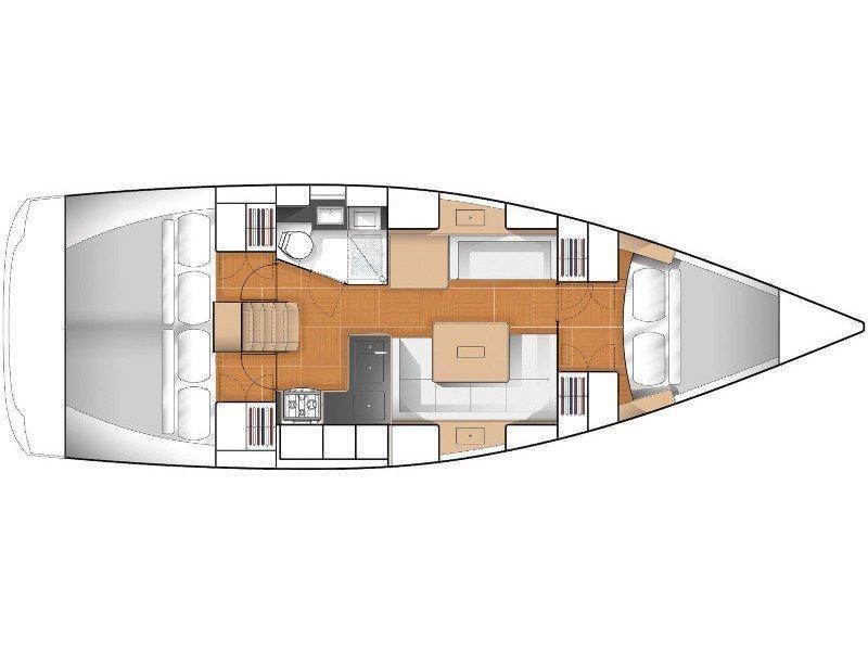 Hanse 375 (Laska (!!!from Monday)) Plan image - 2
