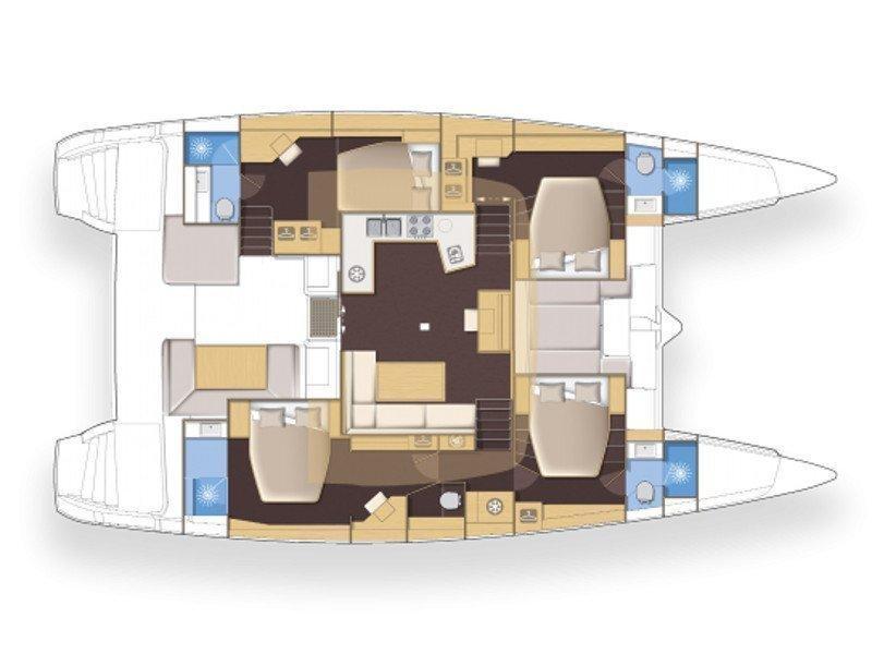 Lagoon 52F (Caracara) Plan image - 3