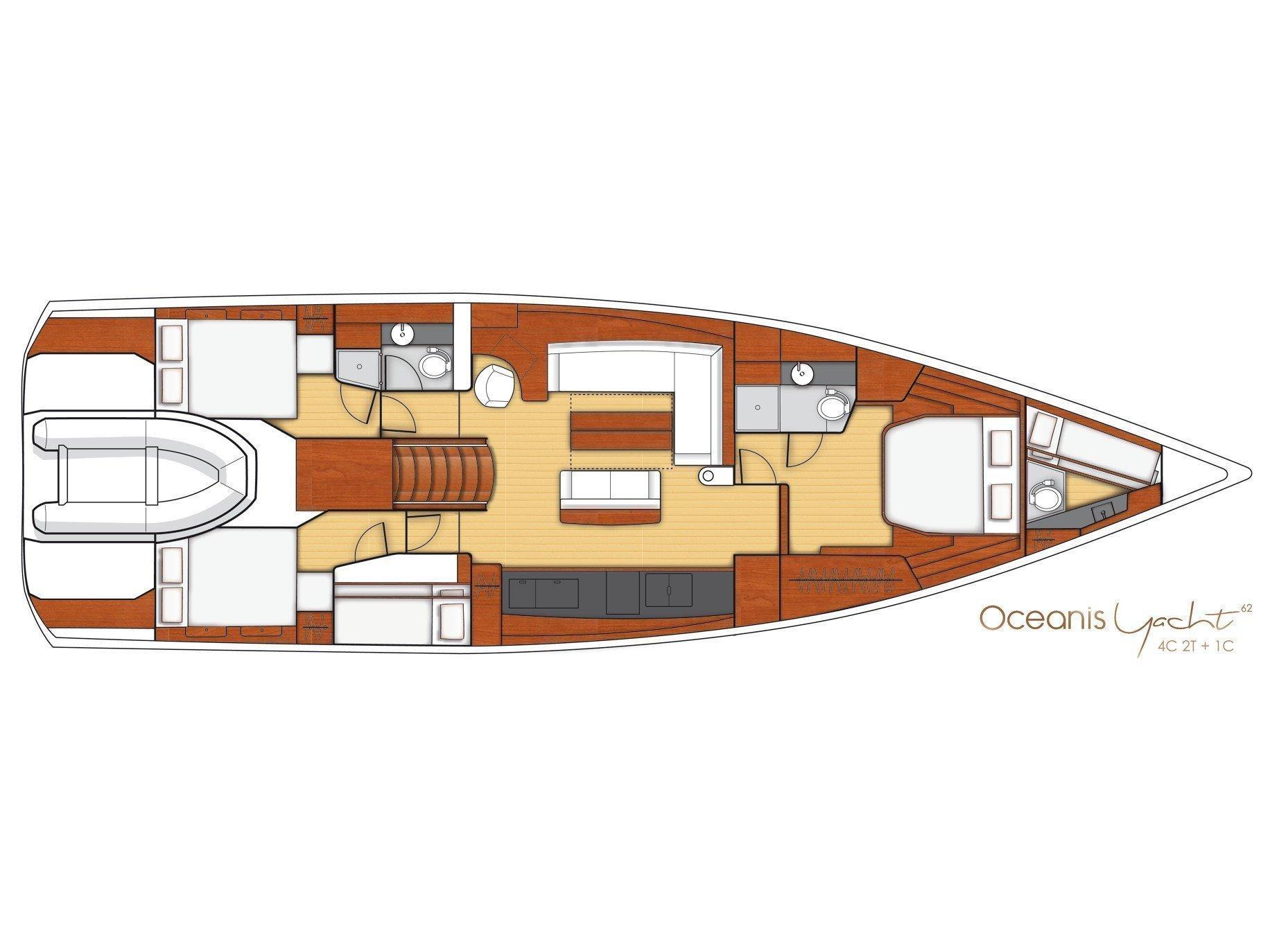 Beneteau Oceanis 62 (Hippo V) Plan image - 2