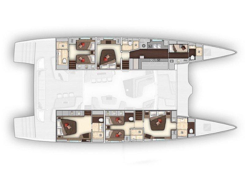 Lagoon Seventy 7 (ADRIATIC DRAGON) Plan image - 38