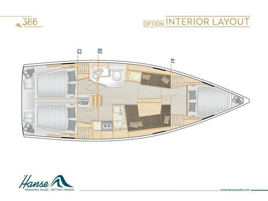 Hanse 388 (ENNOSIGEUS) Plan image - 4