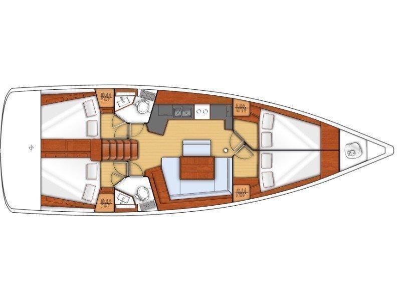 Oceanis 45 (Frida) Plan image - 10