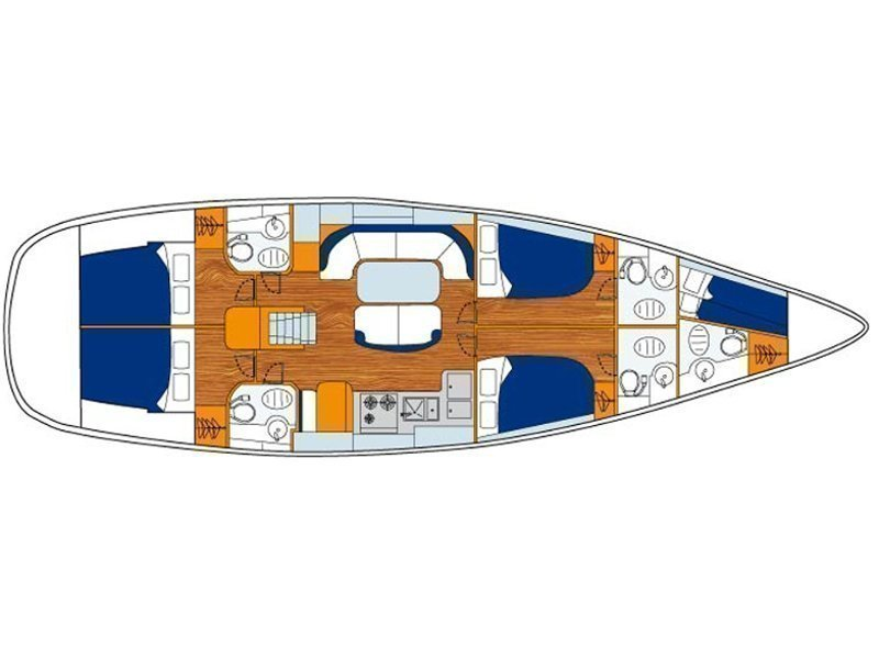 Oceanis 50 Performance (Maro) Plan image - 2