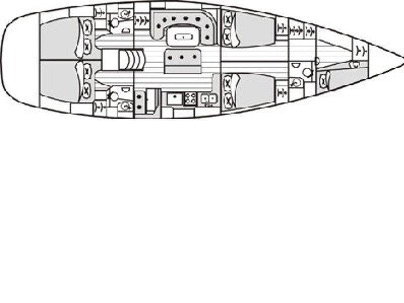 Beneteau 50 (White Lady) Plan image - 1