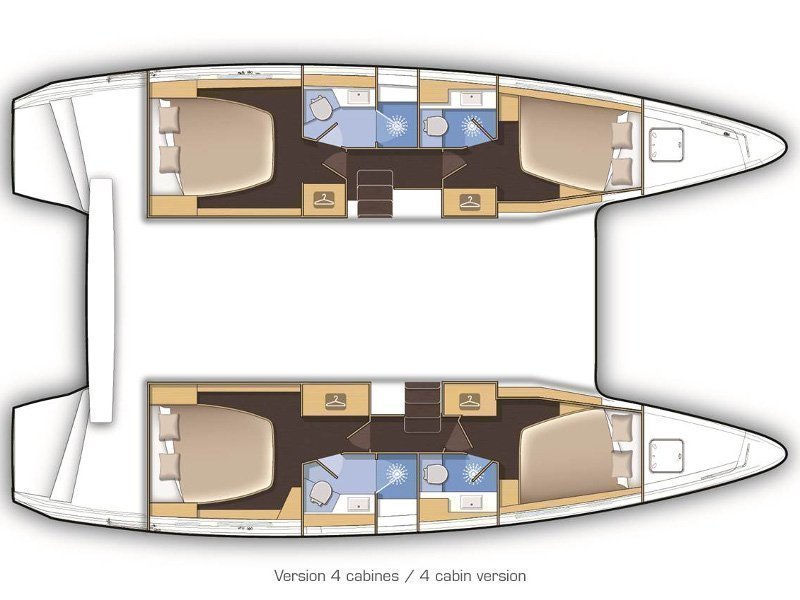 Lagoon 42 (AMELIA) Plan image - 3