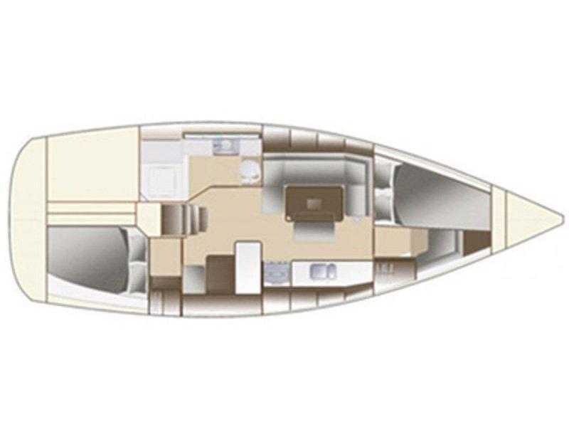 Dufour 380 (Le Pacha) Plan image - 42