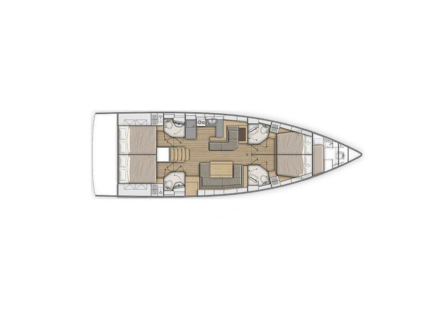 Oceanis 51.1 (4 CAB) (ONAR) Plan image - 14