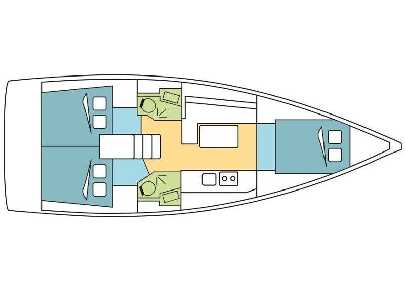 Oceanis 38.1 (Galatea) Plan image - 8