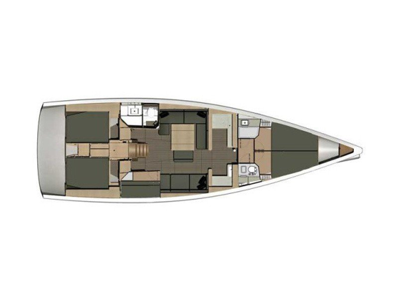 Dufour 512 Grand Large (DONNA) Plan image - 4