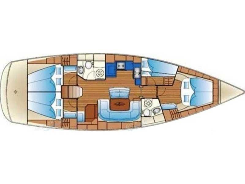Bavaria 46 Cruiser (KALIMERA) Plan image - 1