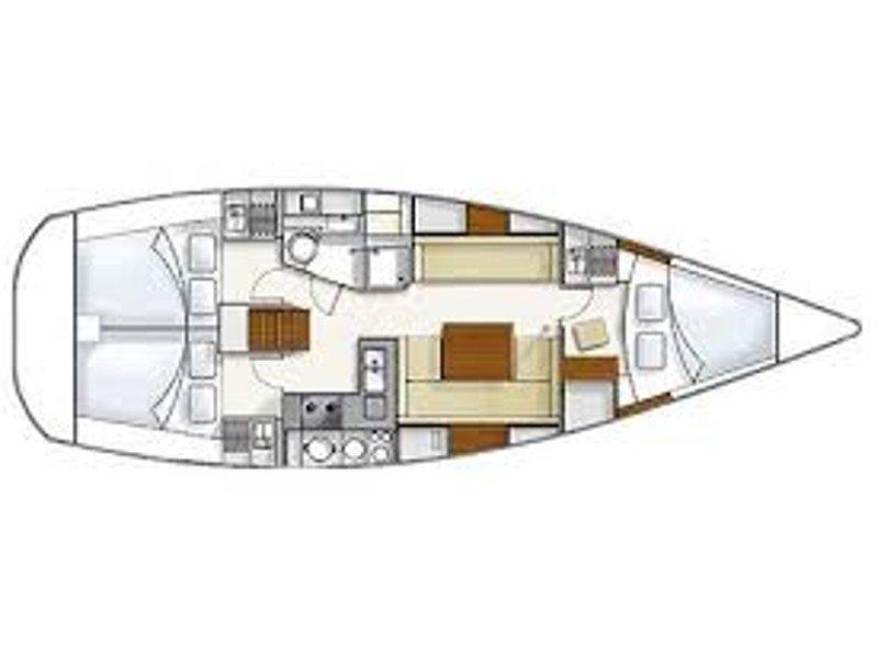 Hanse 370 (Sventola) Plan image - 4