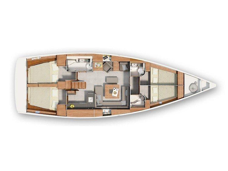 Hanse 455 (Melina) Plan image - 9